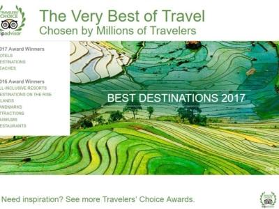 Trip Advisors 2017 Award Winners Screenshot