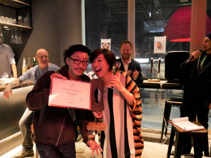 Best Après Ski goes to Toshiro's Bar​. Congratulations!
