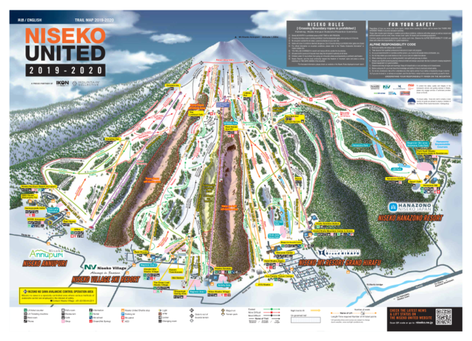 Niseko United Trail Map 2019 20
