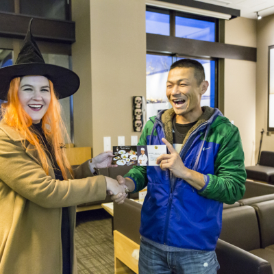 Rodeo Winner, Toshiaki, with Witch At Halloween 2016